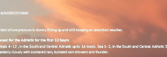Seewetterbericht Kroatien und Griechenland