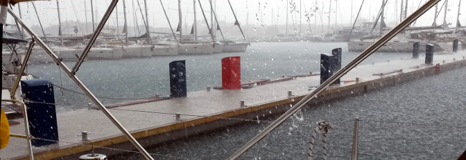 Hagel in Biograd